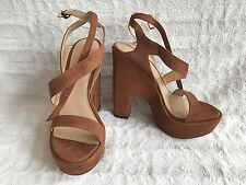 Stuart Weitzman Saucy Strappy Suede Platform Sandals Size M 8 38-39 NIB $455