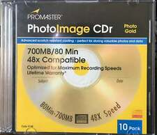 ProMaster PhotoImage CDr 10 Pack w/ Jewel Cases - NEW