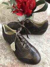New Puma Rudolf Dassler Schuhfabrik Men's Brown Leather Shoes Size US 5 /EU 37