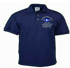 143RD AIRLIFT WING*QUONSET ANGB* RI*USAF ANG*EMBROIDERED LIGHTWEIGHT POLO SHIRT