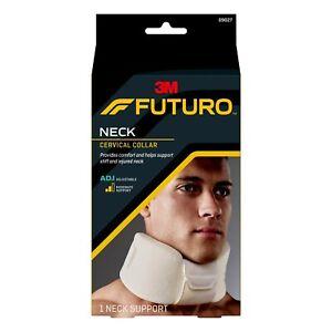 3M Futuro Neck White Cervical Collar Brace ADJUSTABLE MODERATE Support 09027
