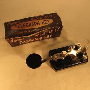 Vintage Telegraph Key Argonne Model AR22 w/box