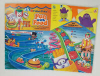 1989 McDonalds Fisher Price Fun with Food Happy Meal Box New Old Stock