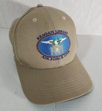 Ronald Reagan Presidential Library Air Force One tan strapback baseball hat cap
