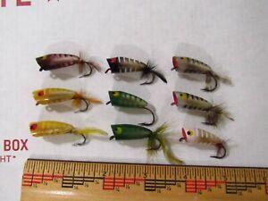 1 ONE Each HEDDON Fly POPPER Fishing Lure USA Dowagiac Michigan