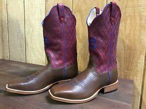 Twisted X Women's HOOey Diamond Stitch Cowgirl Boots - Square Toe, size 8.5 B
