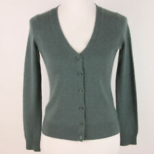 Talbots Petites 100% Pure Cashmere Cardigan Womens Size P Petite Sweater Green