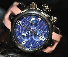 Invicta Mens Rare 90136 Venom Swiss Reserve Chrono Blue Dial Pink Poly Watch