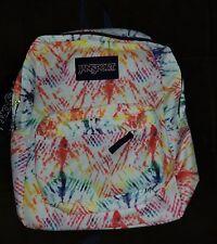 Jansport SUPERBREAK Backpack Rainbow Tie Dye NEW with Tag