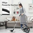 MOOSOO Bagless Canister Vacuum Cleaner Lightweight for Carpets Hard Floors MS155
