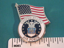 U.S. AIR FORCE with flag - hat pin , tie tac , lapel pin , hatpin GIFT BOXED