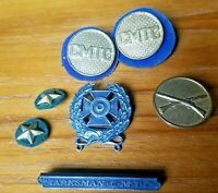 Citizen's Military Training Camps CMTC 4th Year Collar Discs, Marksman Pins Lot