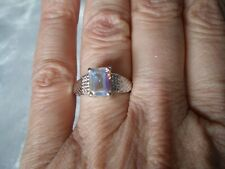 Mercury Mystic Topaz ring, 1.9 carats, size N/O, 3.34 grams of 925 Sterling Silv