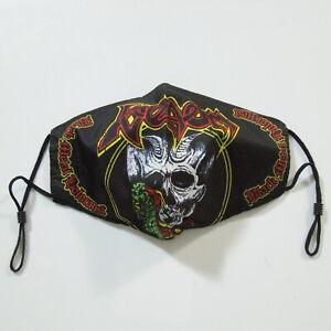 - VENOM Black Metal Holocaust Band Logo (Face Mask) NWOT