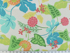 Drapery Upholstery Fabric Indoor/Outdoor Floral 100K Dbl Rubs - White Matelassé