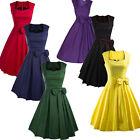 Audrey Hepburn Style 1950s Vintage Rockabilly Swing Pin Up Bowknot Evening Dress