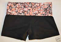 NEW VICTORIA'S SECRET CORAL HIBISCUS PRINT MOST LOVED YOGA SHORT LONG XS XSMALL