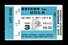 >orig. 1977 UCLA BRUINS vs OREGON DUCKS *Football Ticket Stub* @ Autzen Stadium