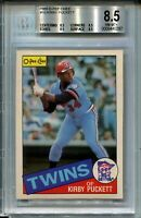 1985 OPC Baseball Kirby Puckett Rookie Card Graded BGS NM Mint+ 8.5 O-Pee-Chee