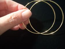 gold hoop earrings jewelry solid 10K gold fine 2 1/8 inch endless loop #28