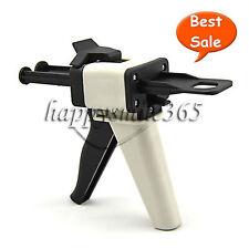 Dental Impression Mixing Dispenser Dispensing Caulking Gun 1:1/2:1 Ratio 50ml
