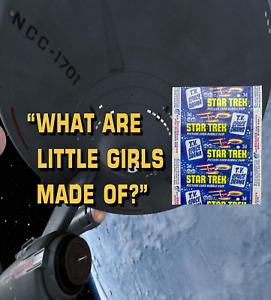 1969 A&BC STAR TREK TV Space Drama 3d Picture Card Bubble Gum Wax Wrapper - VG