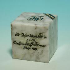 Studentika - Wingolf Paperweight. Marmor. Farbband. Zirkel. Widmung,1929.