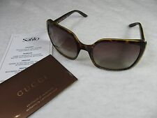 Gucci GG 3128/S 791/YY Sunglasses Havana, Brown Grey Shaded NEW!!