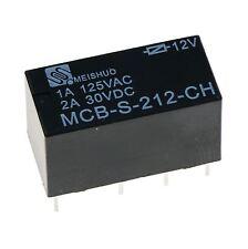SUBMINIATURA PCB 12V señal Relé Interruptor DPDT