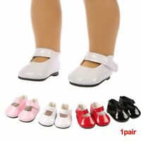 Mini PU Leather Doll Shoes for 18inch Baby Girl Dolls Toy Accessories Cute