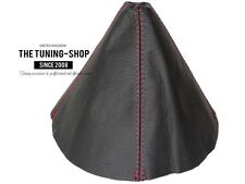 For Mazda MX-5 MK3 2005-12 Gear Boot Black Genuine Leather Red Stitching
