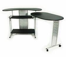 Computer Desk L Shaped Expandable Corner Home Office Work Station Apartment