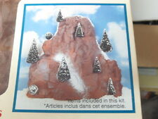 Lemax Christmas Village Accessory - Medium Mountain Backdrop ~  with 9 Trees