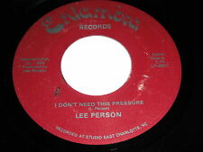 Lee Person: I Don't Need This Pressure / Love Peace & Rock-N-Roll 45 - Rock