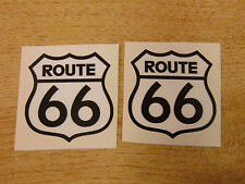 ROUTE 66 - car stickers / America-Mother Road-USA - 2x 50mm decals black & white