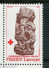 FRANCE 1980, timbre 2116, Croix Rouge, neuf**
