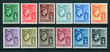 Virgin Islands Scott 76 - 87 MH 1/2p to 1 Pound King George VI Chalk Paper 1938|