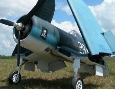 "1/5 Scale F4U Corsair  93"" Giant Scale RC  AIrplane Digital PDF  Plans on a CD"