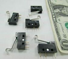 Lot 5 Cherry E63-04RP Sub-Miniature Micro Switches, NO/NC .1A 125V Gold Contacts