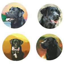 Black Labrador Retriever  Magnets:   4 Cool Labs 4 your Collection-A Great Gift