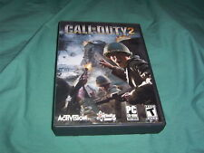 CALL OF DUTY 2 PC CD ROM VIDEO GAME COMPLETE