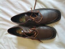 MENS WEATHER MAN BROWN LACE UP SHOES SIZE 7