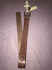 Amanda Smith Brown Leather Belt Medium New With Tags