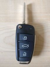 AUDI A3 A4 A6 A8 TT Q7 S6 QUATTRO 3 Button Flip Remote Key Case Cover Fob Car