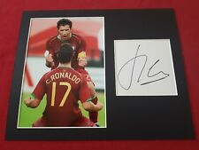Luis Figo Portugal Genuine Hand Signed 10x8 Photo Display