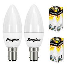 2x 5.9w = 40w LED Vela SBC B15 Pequeño Bayoneta Tapa bombillas de ahorro de energía S8878