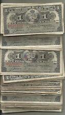 SPAIN COLONIAL BUNDLE 100x 1 PESOS 1896. F-VF CONDITION. ORIGINAL. 4RW 28NOV