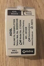 GENUINE BRAND NEW TELSTRA APPROVED ADSL2 FILTER C10245M  FAST & FREE POSTAGE