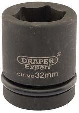 """Draper Expert 32mm 1 """" embout carré Hi-Torq 6 Point Douille impact 5112"""