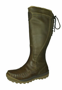 Timberland Mount Holly Zip Waterproof Women's Leather Boots Knee-High Taupe